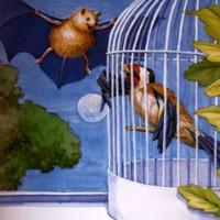cuento del murciélago y el jilguero