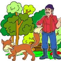 cuento el leñador y el zorro perseguido por los cazadores