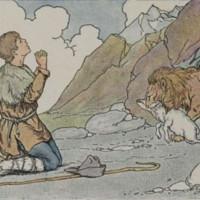 cuento del leon y el pastor