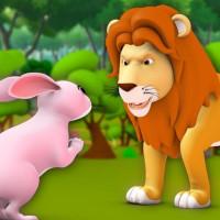 Fabula del leon y la liebre ciervo