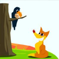 cuento del cuervo y el zorro